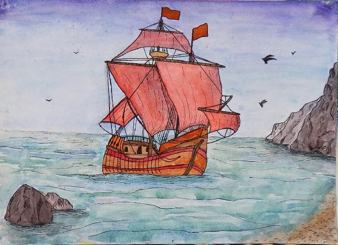 картинка алые паруса нарисовать фото напоминают мутные