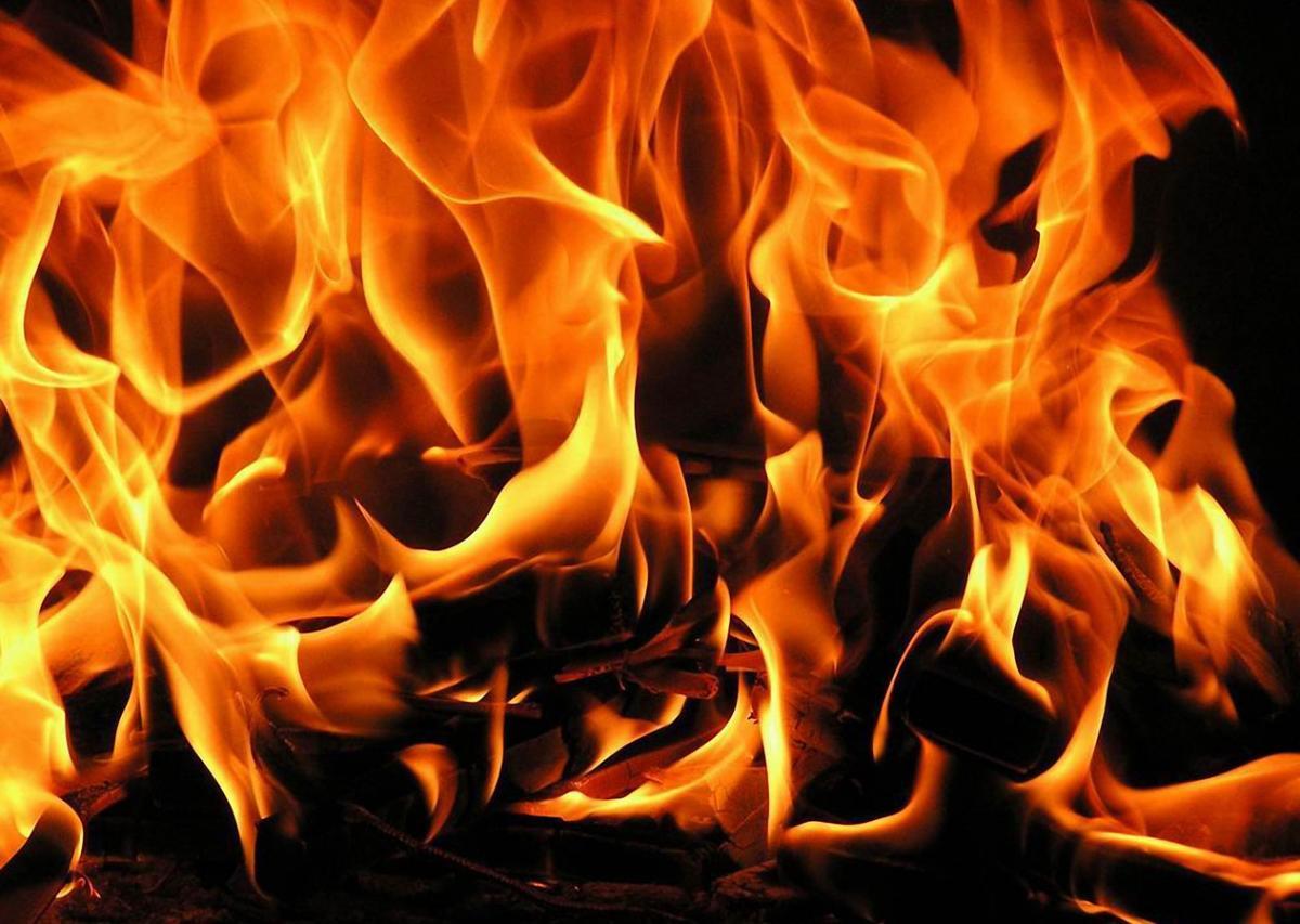 ВТейковском районе сгорел строительный вагончик