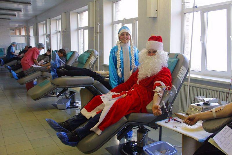 ВИванове состоялась «Новогодняя донорская акция»