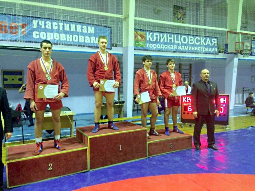 Молодые рязанские самбисты напервенстве ЦФО вКлинцах завоевали 5 наград