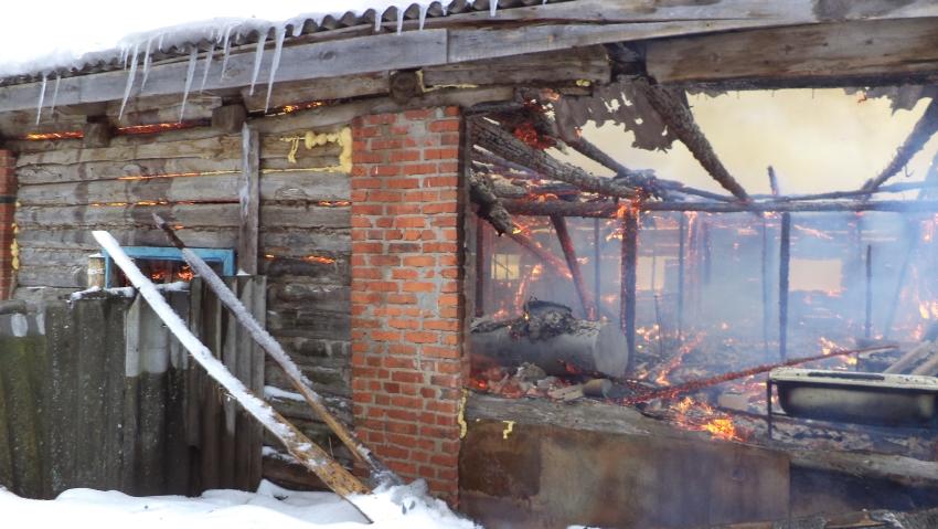 ВИвановской области сгорела ферма