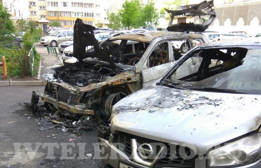 Наулице Куконковых вИванове сгорели 4 автомобиля сразу
