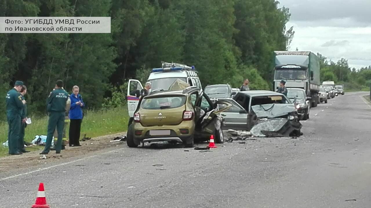 Три человека погибли ишестеро получили травмы вДТП вИвановской области
