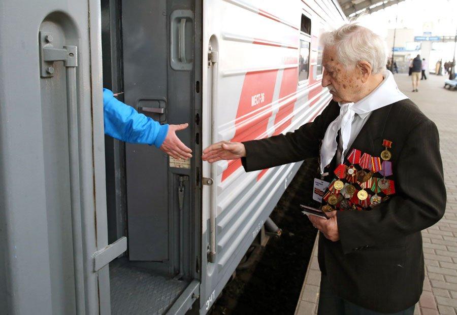 ВПетербурге РЖД предоставит бесплатный проезд ветеранам ВОВ